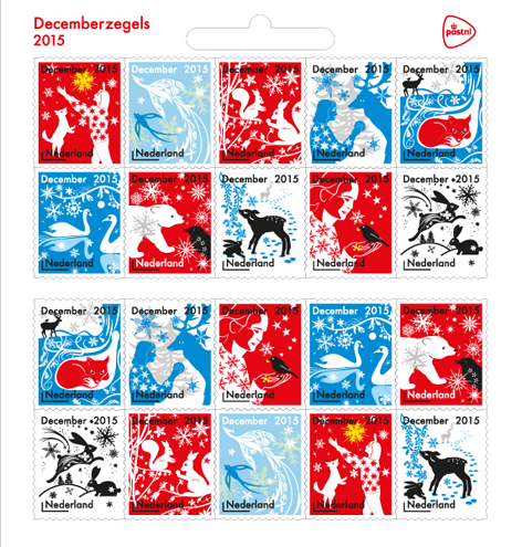 December Stamps for PostNL