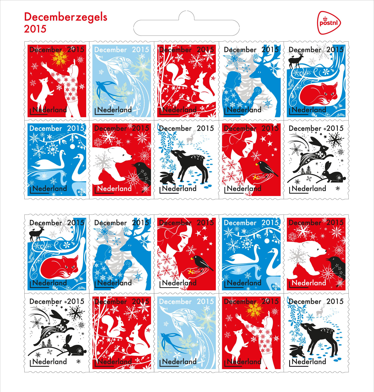 December Stamps for PostNL