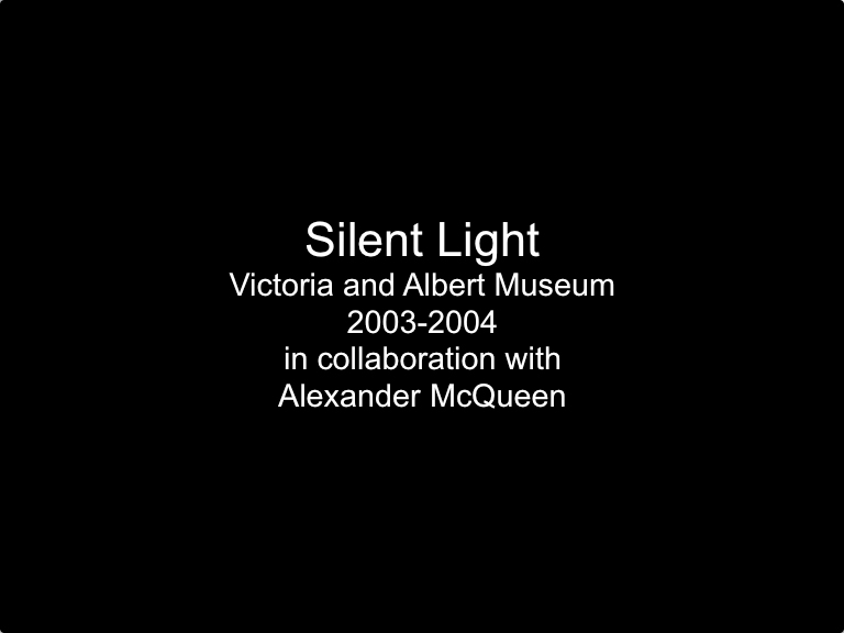 Stephen Willats: Silent Light, Video by Studio Tord Boontje